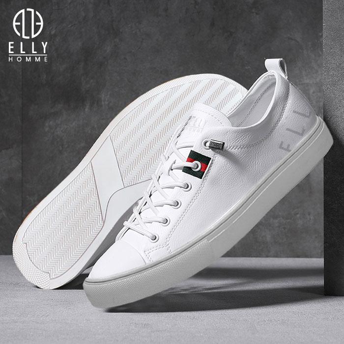 Giày nam sneaker da thật ELLY HOMME - EGTM19